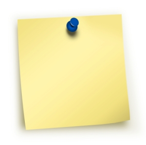 post-it-note-with-a-pin